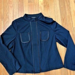 Lane Bryant Blue Career Work Jacket Blazer 14